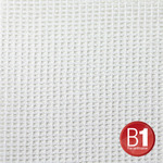 Adam Hall NEW 0157 X 45 W - Gauze, material 202 4x5m with eyelets, white