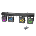Cameo Multi PAR 3 - Compact 28 x 8 W QUAD colour LED lighting system incl. transport case