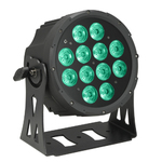 Cameo NEW FLAT PRO PAR CAN 12 - 12 x 10 W FLAT LED RGBWA PAR light in black housing