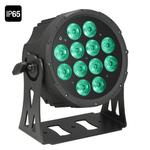 Cameo NEW Outdoor FLAT PRO PAR CAN 12 IP65 - 12 x 10 W FLAT LED Outdoor RGBWA PAR light in black housing