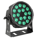 Cameo NEW FLAT PRO PAR CAN 18 - 18 x 10 W FLAT LED RGBWA PAR light in black housing