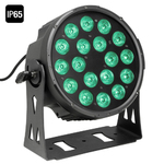 Cameo NEW Outdoor FLAT PRO PAR CAN 18 IP65 - 18 x 10 W FLAT LED Outdoor RGBWA PAR light in black housing