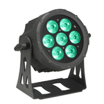 Cameo NEW FLAT PRO PAR CAN 7 - 7 x 10 W FLAT LED RGBWA PAR light in black housing