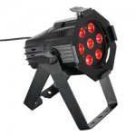 Cameo Studio Mini PAR 7x 3W Tri Colour LED RGB Black